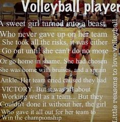 This is what all volleyball players goals should be! volleyball for life Volleyball Jokes, Volleyball Motivation, Volleyball Training, Volleyball Workouts, Volleyball Drills, Coaching Volleyball, Volleyball Pictures, Basketball Quotes, Volleyball Players