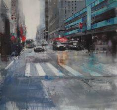 Home - Pedro Rodriguez Garrido Modern Art, Times Square, Urban, Oil, Canvas, Painting, Travel, Landscape Paintings, Tela