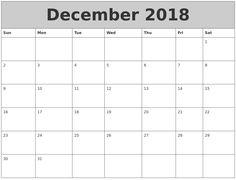 #DecemberCalendar2018Template For School Calendar