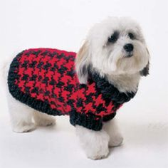 Houndstooth Dog Sweater a free pattern from Vogue Knitting.  I think this is on my Christmas to-do list!