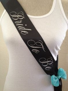 Bachelorette Sash Bride To Be Sash Satin Sash by SexyLittleBrides