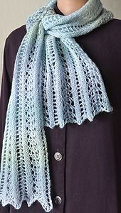 Ravelry: Mini Mochi Easy Lace Scarf pattern by Melanie Lewis