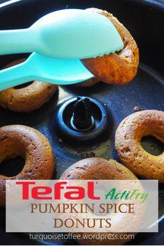 ActiFry Pumpkin Spice Donuts - Actifry Donuts Pumpkin Spice Healthy Baked Fried Diet Doughnuts Turquoise Informationen zu ActiFry P - Pumpkin Pie Recipes, Pumpkin Pie Spice, Fried Donuts, Doughnuts, Toffee, Tefal Actifry, Baked Donut Recipes, Mini Donuts, Glaze Recipe