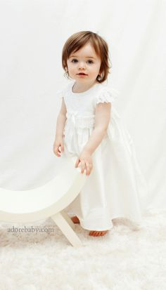 a gorgeous little dress and bonnet for your baby girls baptism