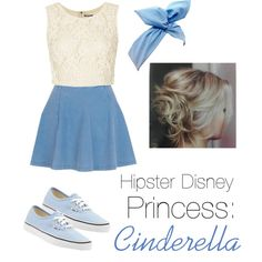 Hipster Disney princess: Cinderella by obsessivelove on Polyvore featuring Topshop, River Island and Vans