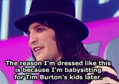 Noel Fielding. I love him so much. He's in IT crowd, The Mighty Boosh, and more awesome british comedy.
