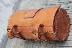 borsa sella bici  Handmade Bicycle Leather Tool Bag Saddle Bag Seat Bag Thick Natural VEG Tan | eBay