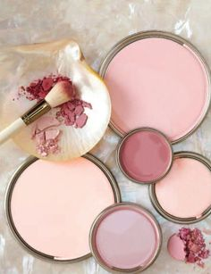 I absolutely love blush pink paint theme.  This would look great as a kitchen painting idea .   This also would make a great soft and warm paint pallet for a bathroom or even dining room.  Blush Pink