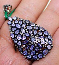 1.38ct #Victorian Rose Cut #Diamond Pendant Tanzanite 925 #Silver Vintage Style Wedding Wear Free shipping Mvp_024    Rose cut diamond   Rose cut diamond clarity : I1-I2   Ros... #diamondnecklace #silver #gemstone #stone #amethyst #quartz #red #green #yellow #blue #vintage #victorian ➡️ http://jto.li/5us9T