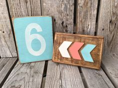 Hand painted wood sign number personalized photo by jodyaleavitt