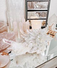 Pin on crystals Crystal Room, Crystal Magic, Crystal Decor, Chakra Crystals, Crystals And Gemstones, Stones And Crystals, Healing Crystals, Crystals In The Home, Natural Crystals