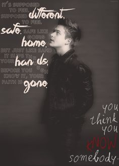 This song is tragically beautiful. Hunter Hayes - You Think You Know Somebody Country Lyrics, Country Songs, Hunter Hayes Quotes, Best Country Singers, Feeling Wanted, My Escape, Music Love, My Guy, Lyric Quotes