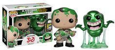 Ghostbusters Slimed Peter and Slimer Pop! Vinyl Figure - Previews SDCC Exclusive