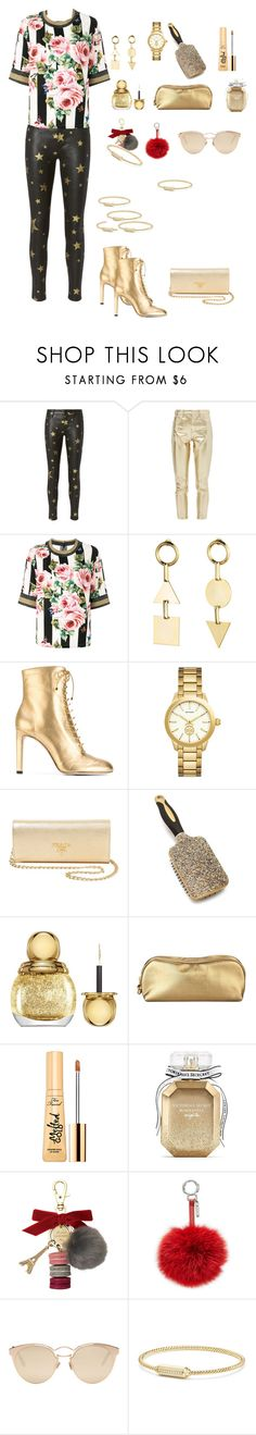 """""""❤👣❤"""" by zeynnep ❤ liked on Polyvore featuring RtA, Topshop, Dolce&Gabbana, Eddie Borgo, Jimmy Choo, Versace, Prada, Christian Dior, Rodo and Too Faced Cosmetics"""