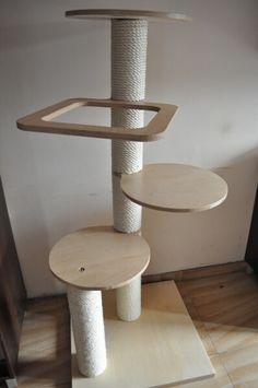 Drapak dla kota drewniany ze SKLEJKI bardzo mocny!