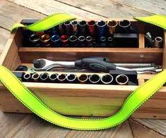 How to build a Socket Caddy from scrap hardwood flooring.