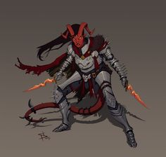 Tiefling Paladin by SteveSketches