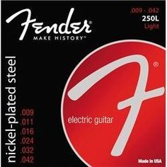 Fender 250L Super 250 Nickel-Plated Steel Electric Guitar Strings - Light (Standard) by Fender. $5.39. Reap the benefits of time-tested Fender quality. Save 46%!