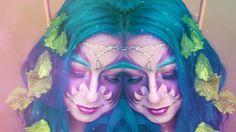 ☽ Night Elf Makeup: World of Warcraft - Makeup Tutorial ☾ Makeup Tutorial Eyeliner, Easy Makeup Tutorial, Makeup Tutorial For Beginners, Elf Makeup, Halloween Makeup, Halloween Costumes, Elf Cosplay, Cosplay Costumes, Night Elf