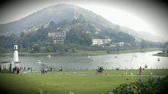 Vista do Lago Quitandinha,  Petrópolis