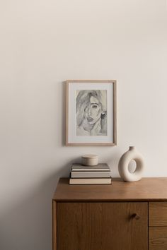 Original Watercolor Illustration Portrait Painting, Black White Wall Art Decor, Painting of Woman, Hand Drawn Female Wall Art, Artist Gifts