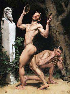 Carlos Barahona Possollo, 2 Dancing Fauns