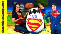 Huevo Mas Grande del Mundo de Batman vs Superman y La MUJER Maravilla   ...