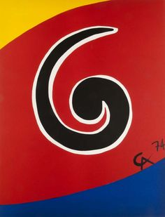 Alexander Calder Sky Swirl, Convection, Beastie 1974 Original color lithograph on Velin d'Arches