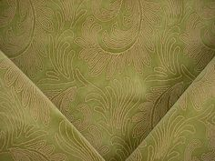 3-1/2 yards Kravet / Lee Jofa 2008102 Stonehouse in Moss - Beautiful Embroidered Floral Velvet Drapery Upholstery Fabric - Free Shipping