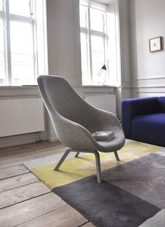 Perfectie HAY - About A Lounge Chair In warm oranje, geel of roze. Kleurschema nog te beslissen
