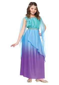 Child Tricolor Ombre Goddess Costume