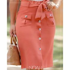 Cute Skirt Outfits, Cute Skirts, Short Skirts, Short Dresses, African Fashion Skirts, Fashion Dresses, Coral Moda, Christian Clothing, Work Attire