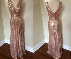 Sequin Bridesmaid Dress,Long Bridesmaid Gown