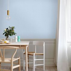 Welcome to Sandberg Wallpaper. We are a Swedish design company specialising in designer wallpaper and home accessories. Visit our site to browse the full collection of Sandberg wallpapers and find your nearest stockist. Decor, Blue Wallpaper Living Room, Room, Interior, Blue Living Room, Room Wallpaper, Wallpaper, Popular Wallpaper, Pink Wallpaper
