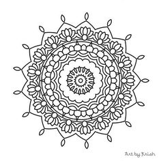 107 Printable Intricate Mandala Coloring Pages от KrishTheBrand