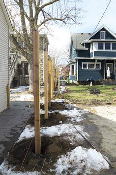 Cedar Horizontal Fence in Progress