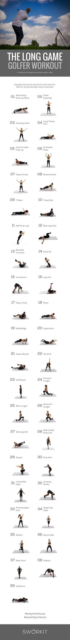 Golfer custom workout that helps you increase overall strength and flexibility, and helps you reach your full potential. More Golf Quotes, Lessons, and Tips here at #lorisgolfshoppe
