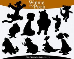 winnie the pooh silhouettes - Google Search