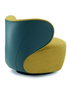 Swivel upholstered #armchair BAO by Walter Knoll | #design EOOS #colour