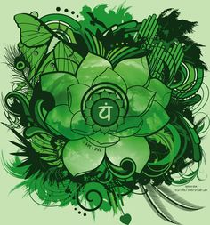 "MF13: IDI Apparel - Chakra Lotus  Green, Anahata, ""I am love"""