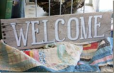 barnwood welcome sign