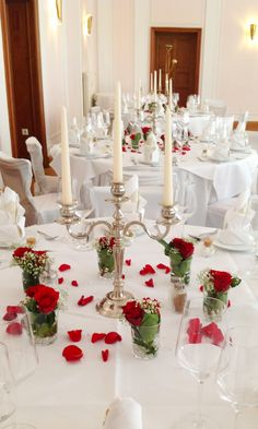 Our beautiful wedding decoration with red roses made by Princess Dreams in June 2013.