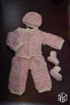 Ensemble chaud et doux tricote en taille 3/6 mois Vêtements bébé Aisne - leboncoin.fr