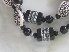 Black and White Necklace by syltas on Etsy, $15.99
