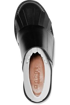 Marni - Fringed Two-tone Leather Brogues - Black - IT37.5