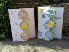 Zippy Stamping w/ Meri & Barb: Stampin' Up! - Something to Say, Something about Baby, Baby's First Framelits                                                                                                                                                     More