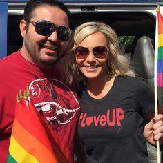 Kyle rock'n the #loveup T-shirt at the Phoenix Pride Parade. #phoenixpride #scottsdale #phoenix #chandler #kissfm