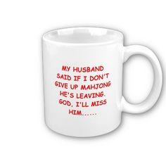 MAHJOng player Coffee Mugs