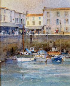 The Harbour at La Flotte, Ile de Re by David Howell