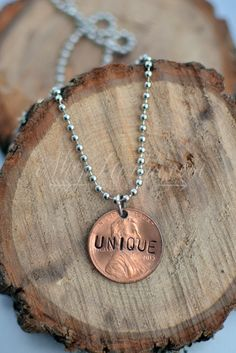 """UNIQUE"" PENNY NECKLACE"